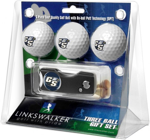 Georgia Southern Eagles Golf Ball Gift Pack with Spring Action Divot Tool
