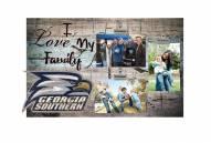 Georgia Southern Eagles I Love My Family Clip Frame