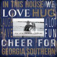 """Georgia Southern Eagles In This House 10"""" x 10"""" Picture Frame"""