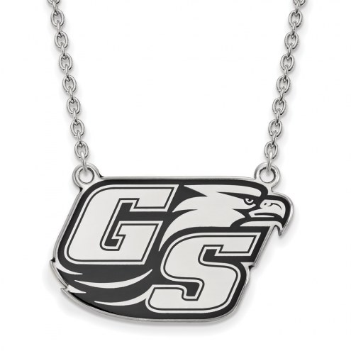 Georgia Southern Eagles Sterling Silver Large Enameled Pendant Necklace