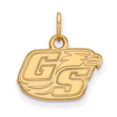 Georgia Southern Eagles NCAA Sterling Silver Gold Plated Extra Small Pendant