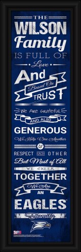 Georgia Southern Eagles Personalized Family Cheer Framed Art