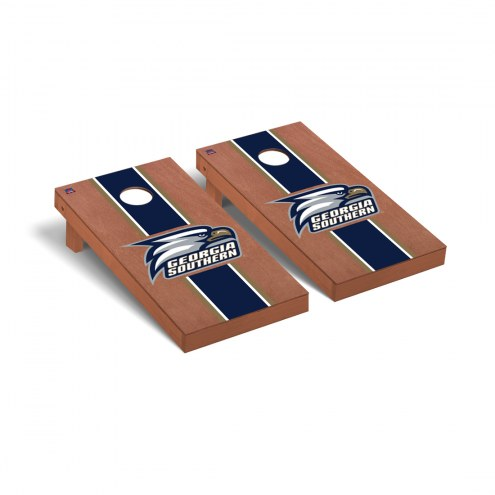 Georgia Southern Eagles Rosewood Stained Cornhole Game Set