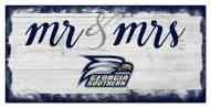 Georgia Southern Eagles Script Mr. & Mrs. Sign