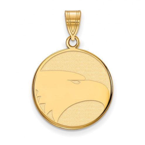 Georgia Southern Eagles Sterling Silver Gold Plated Large Pendant