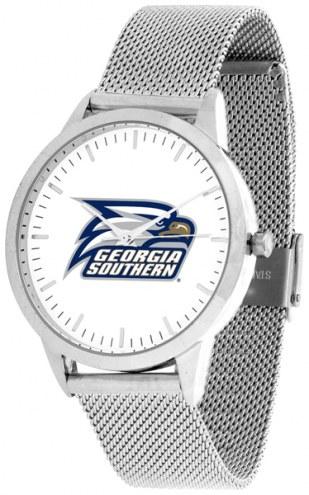 Georgia Southern Eagles Silver Mesh Statement Watch