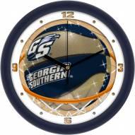 Georgia Southern Eagles Slam Dunk Wall Clock