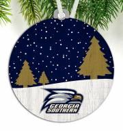 Georgia Southern Eagles Snow Scene Ornament