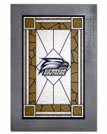 Georgia Southern Eagles Stained Glass with Frame