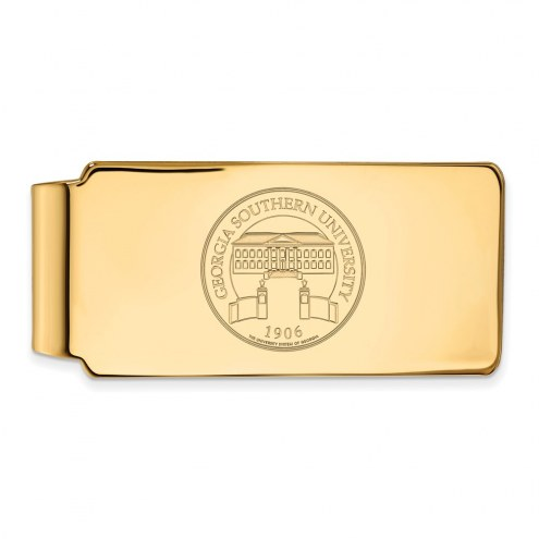 Georgia Southern Eagles Sterling Silver Gold Plated Crest Money Clip
