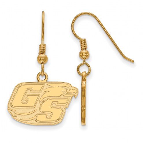 Georgia Southern Eagles Sterling Silver Gold Plated Small Dangle Earrings