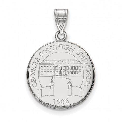 Georgia Southern Eagles Sterling Silver Large Crest Pendant