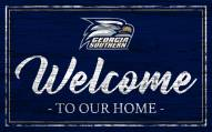 Georgia Southern Eagles Team Color Welcome Sign