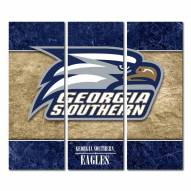 Georgia Southern Eagles Triptych Double Border Canvas Wall Art