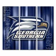 Georgia Southern Eagles Triptych Rush Canvas Wall Art