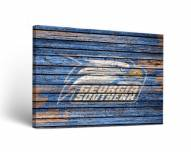 Georgia Southern Eagles Weathered Canvas Wall Art