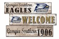 Georgia Southern Eagles Welcome 3 Plank Sign