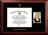 Georgia State Panthers Gold Embossed Diploma Frame with Portrait