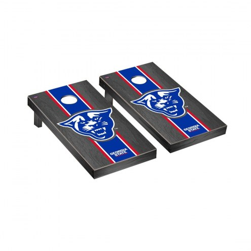 Georgia State Panthers Onyx Stained Cornhole Game Set