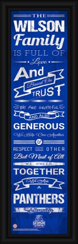 Georgia State Panthers Personalized Family Cheer Framed Art