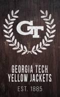 "Georgia Tech Yellow Jackets 11"" x 19"" Laurel Wreath Sign"