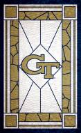 """Georgia Tech Yellow Jackets 11"""" x 19"""" Stained Glass Sign"""