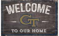 """Georgia Tech Yellow Jackets 11"""" x 19"""" Welcome to Our Home Sign"""