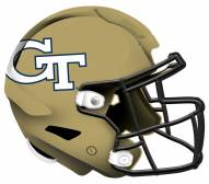 "Georgia Tech Yellow Jackets 12"" Helmet Sign"