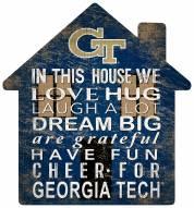 "Georgia Tech Yellow Jackets 12"" House Sign"