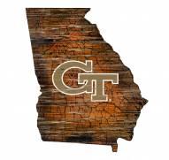 "Georgia Tech Yellow Jackets 12"" Roadmap State Sign"