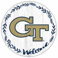 "Georgia Tech Yellow Jackets 12"" Welcome Circle Sign"