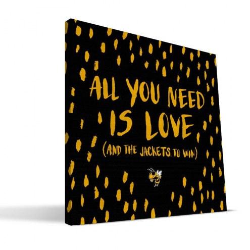 "Georgia Tech Yellow Jackets 12"" x 12"" All You Need Canvas Print"