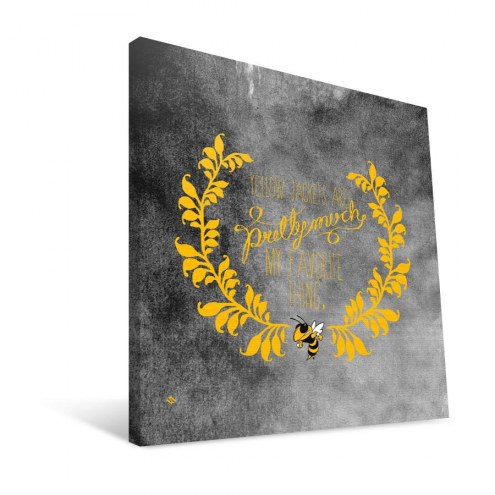 "Georgia Tech Yellow Jackets 12"" x 12"" Favorite Thing Canvas Print"