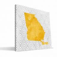 "Georgia Tech Yellow Jackets 12"" x 12"" Home Canvas Print"