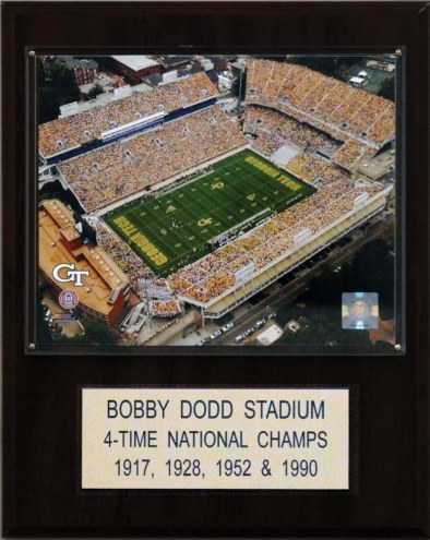 "Georgia Tech Yellow Jackets 12"" x 15"" Bobby Dodd Stadium Plaque"
