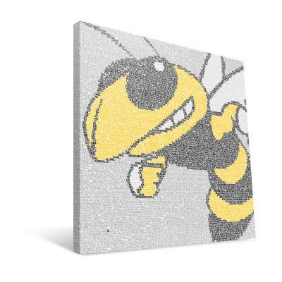 "Georgia Tech Yellow Jackets 16"" x 16"" Typo Canvas Print"