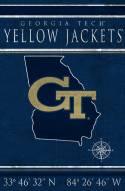 "Georgia Tech Yellow Jackets 17"" x 26"" Coordinates Sign"