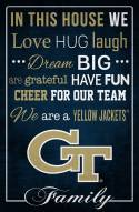 """Georgia Tech Yellow Jackets 17"""" x 26"""" In This House Sign"""