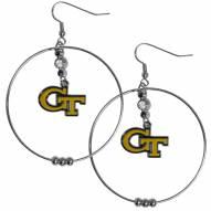 "Georgia Tech Yellow Jackets 2"" Hoop Earrings"