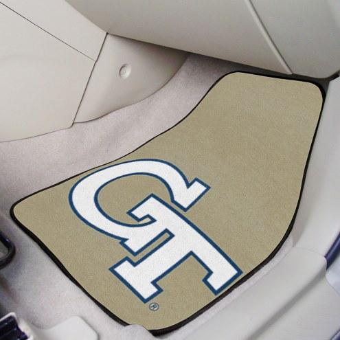 Georgia Tech Yellow Jackets 2 Piece Carpet Car Mats