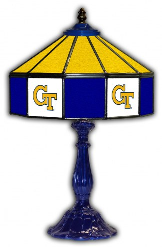 "Georgia Tech Yellow Jackets 21"" Glass Table Lamp"