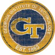 "Georgia Tech Yellow Jackets 24"" Heritage Logo Round Sign"