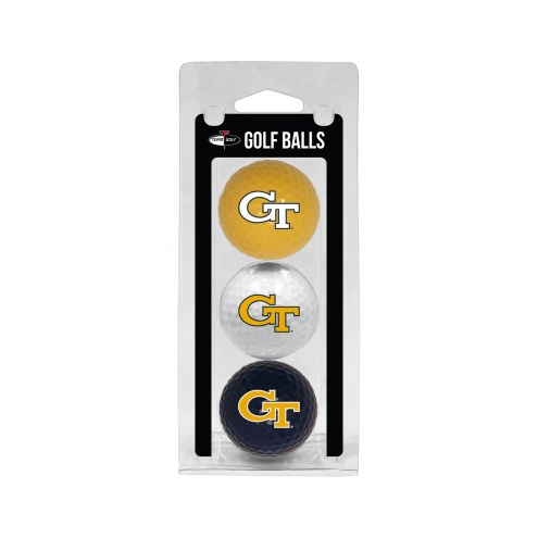 Georgia Tech Yellow Jackets 3 Pack of Golf Balls