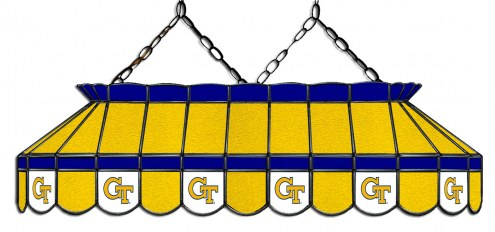 """Georgia Tech Yellow Jackets 40"""" Stained Glass Pool Table Light"""
