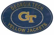 "Georgia Tech Yellow Jackets 46"" Heritage Logo Oval Sign"