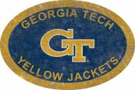 """Georgia Tech Yellow Jackets 46"""" Team Color Oval Sign"""