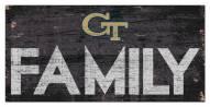 "Georgia Tech Yellow Jackets 6"" x 12"" Family Sign"