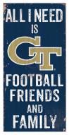 "Georgia Tech Yellow Jackets 6"" x 12"" Friends & Family Sign"