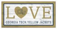 "Georgia Tech Yellow Jackets 6"" x 12"" Love Sign"