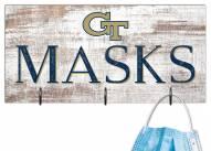 "Georgia Tech Yellow Jackets 6"" x 12"" Mask Holder"